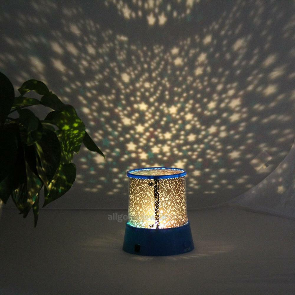 Romantic Led Starry Night Sky Projector Lamp Kids Gift