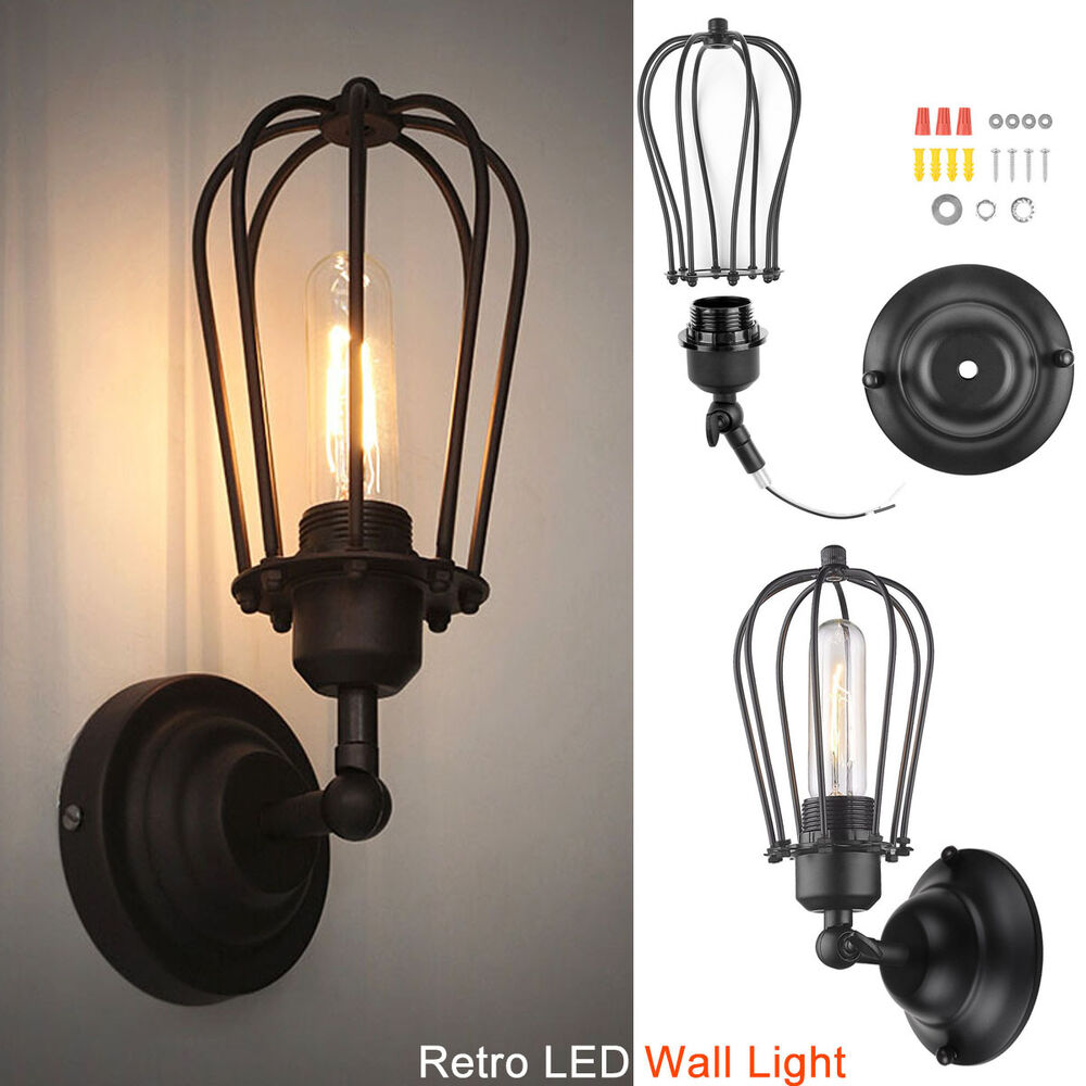 Industrial Retro LED Wall Sconce Lighting Vintage Wustic