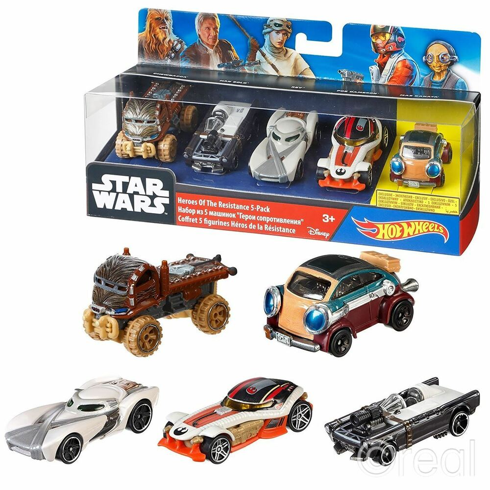 new star wars heroes of the resistance 5 car pack hot wheels han solo official ebay. Black Bedroom Furniture Sets. Home Design Ideas