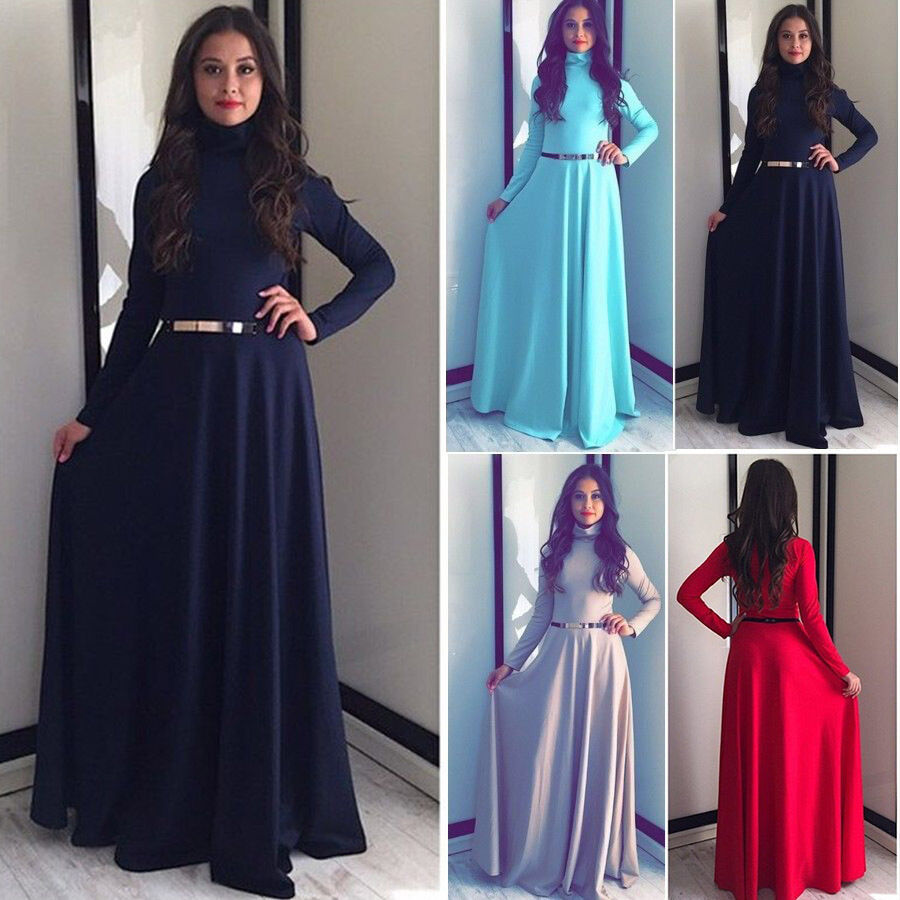 Maxi Dresses With Sleeves For Muslimah