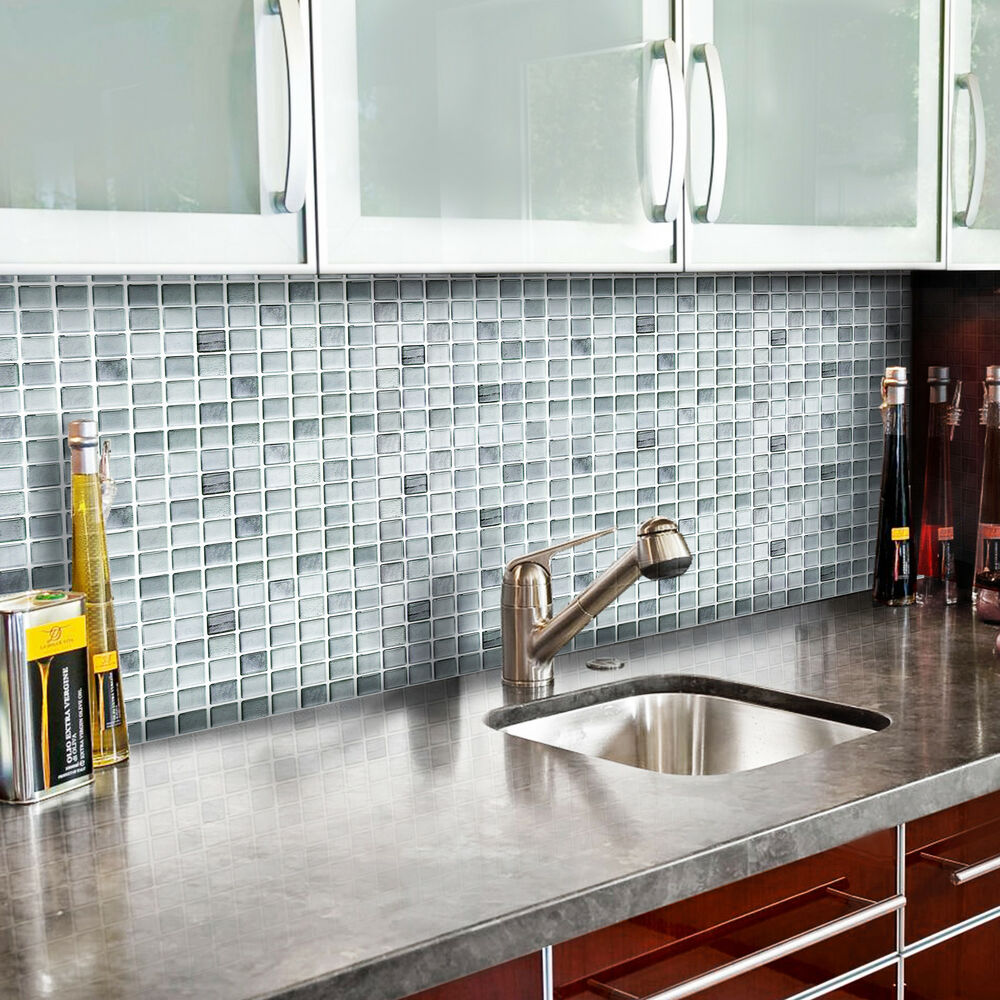 Peel And Stick Backsplash Tiles: Self Adhesive Wall Tiles Peel And Stick Backsplash Kitchen