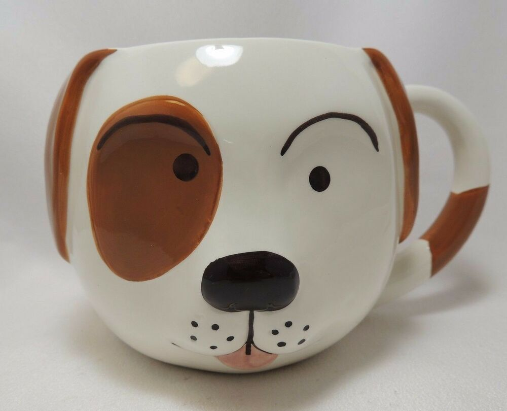 Puppy Dog Face Cereal Soup Coffee Mug Bowl 24 Oz Hand