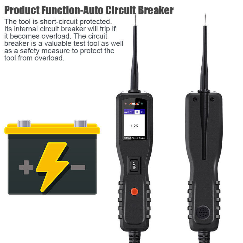 Electrical Power Tester : Ancel pb v auto circuit tester probe test electrical