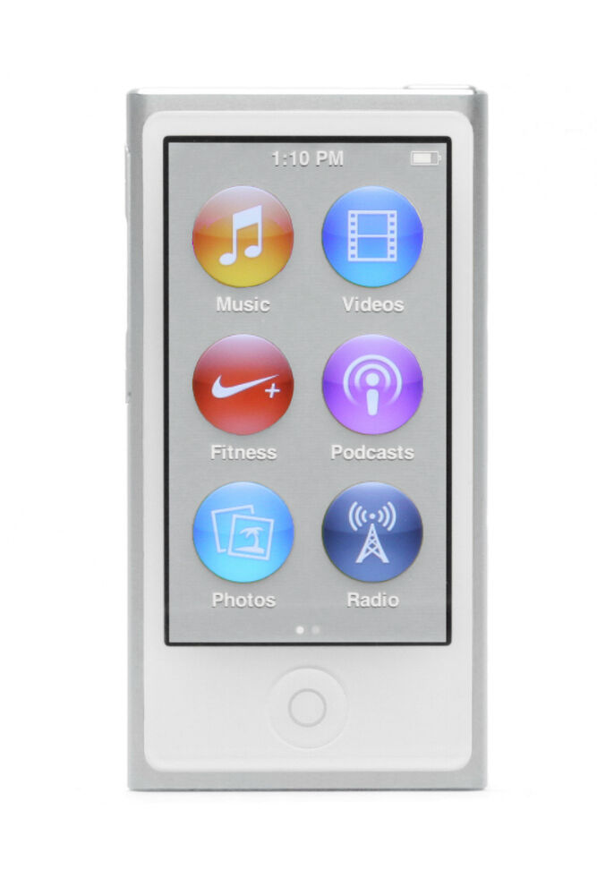 apple ipod nano 7 generation silber 16gb aktuellstes. Black Bedroom Furniture Sets. Home Design Ideas