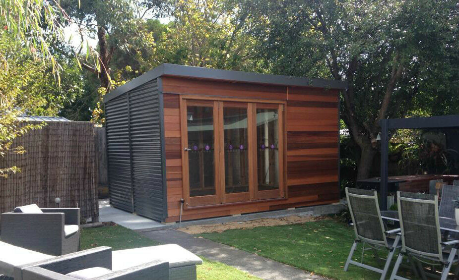 Garden studio art craft studio workshop home office for Diy garden room