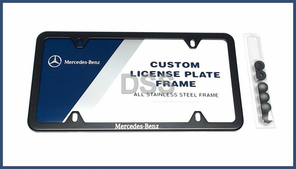 Genuine Mercedes Benz License Plate Frame Oem Trunk Black
