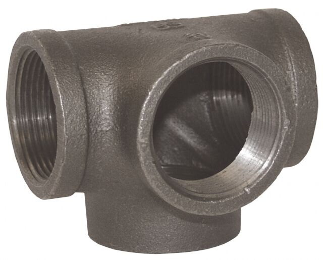 2 Quot Side Outlet Tee Black Malleable Iron Fitting Pipe Npt