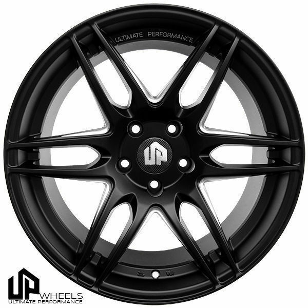 19 Up620 Black 19x8 59 5 Staggered 5x112 Wheels Rim Vw Cc Passat