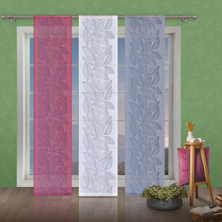 Net Lace Window Panel Leaves Blind Curtain Fly Screen Slot