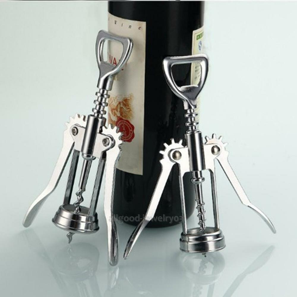 Stainless Steel Metal Wine Corkscrew Bottle Handle Opener