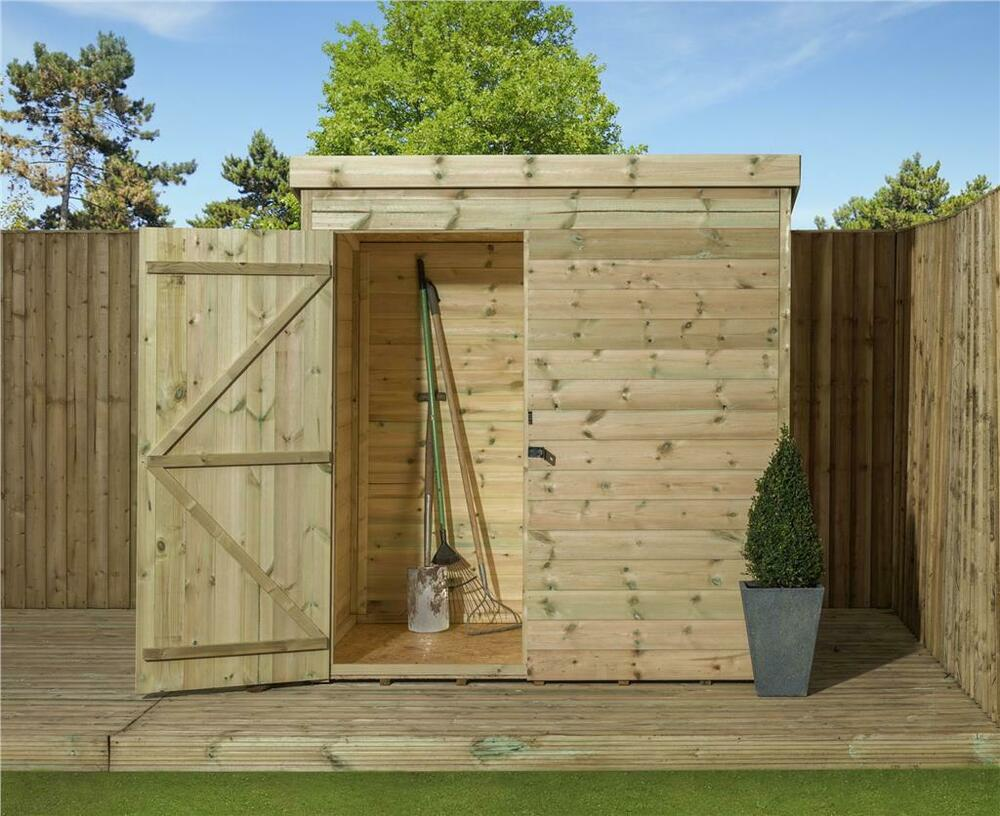 8x4 garden shed shiplap pent roof tanalised pressure for 12x8 shed with side door