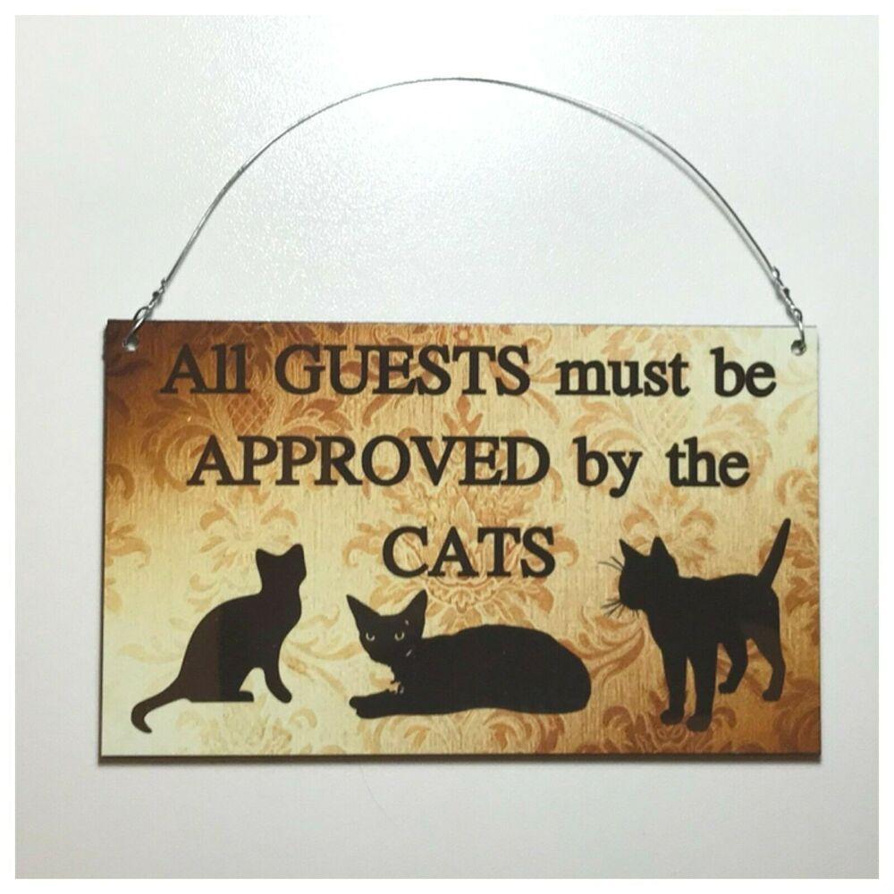 House Plaques With Cats