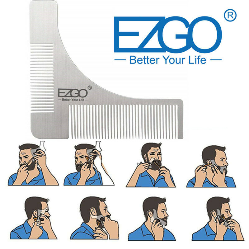 This is a graphic of Wild Beard Shaping Template Printable