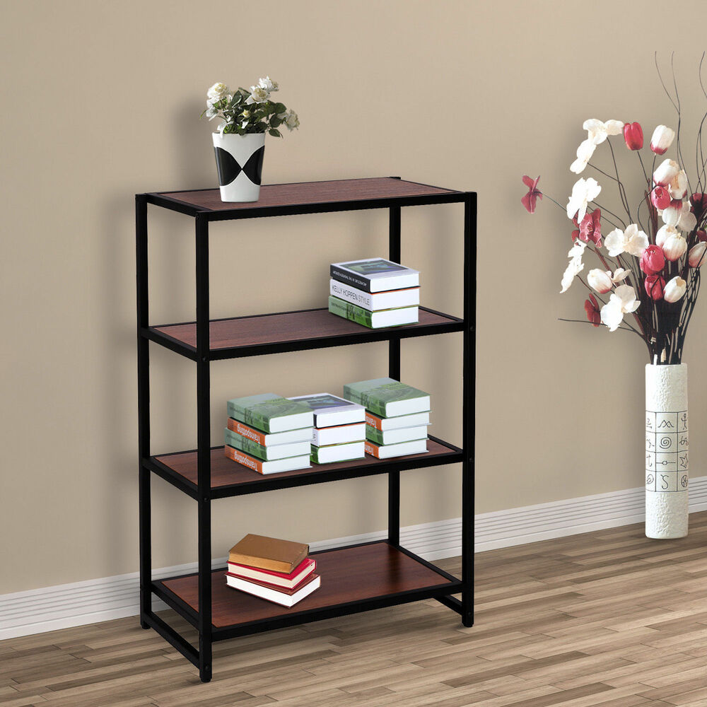 4 Tier Storage Rack Organizer Bookcase Bookshelf Kitchen