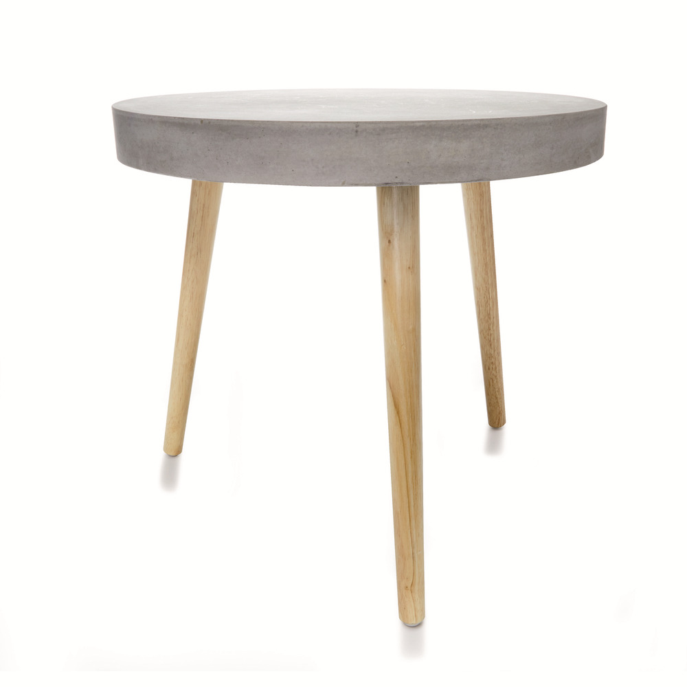 Modern stylish side coffee table rugged wooden leg indoor for Coffee tables brisbane qld