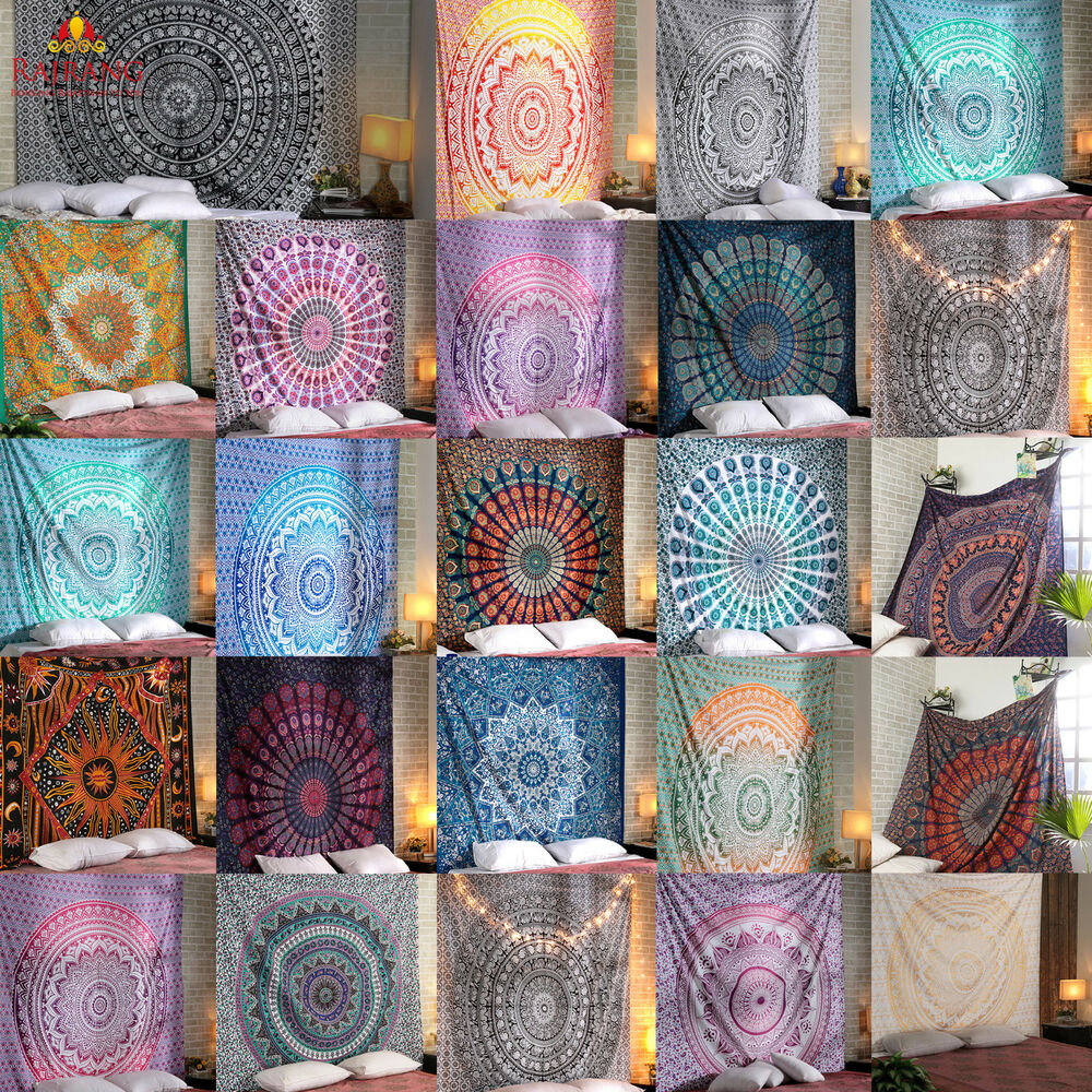 Mandala Tapestry Indian Wall Hanging Decor Bohemian Hippie