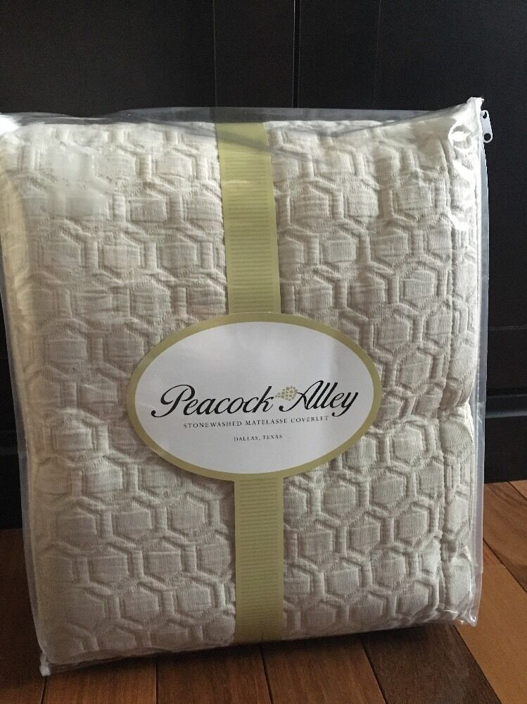Peacock Alley King Coverlet Stonewashed Matelasse Beige Taupe Bedspread New Bed Ebay