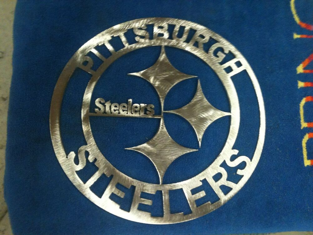 Pittsburgh Steelers Man Cave Decor : Pittsburgh steelers round metal sign mancave wall decor
