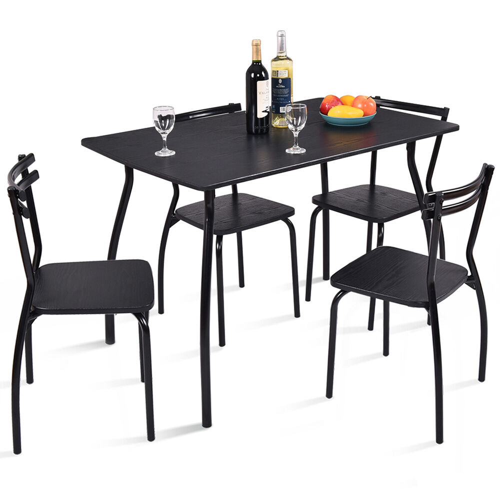 5 Chair Dining Set: 5 Piece Dining Set Table And 4 Chairs Home Kitchen Room