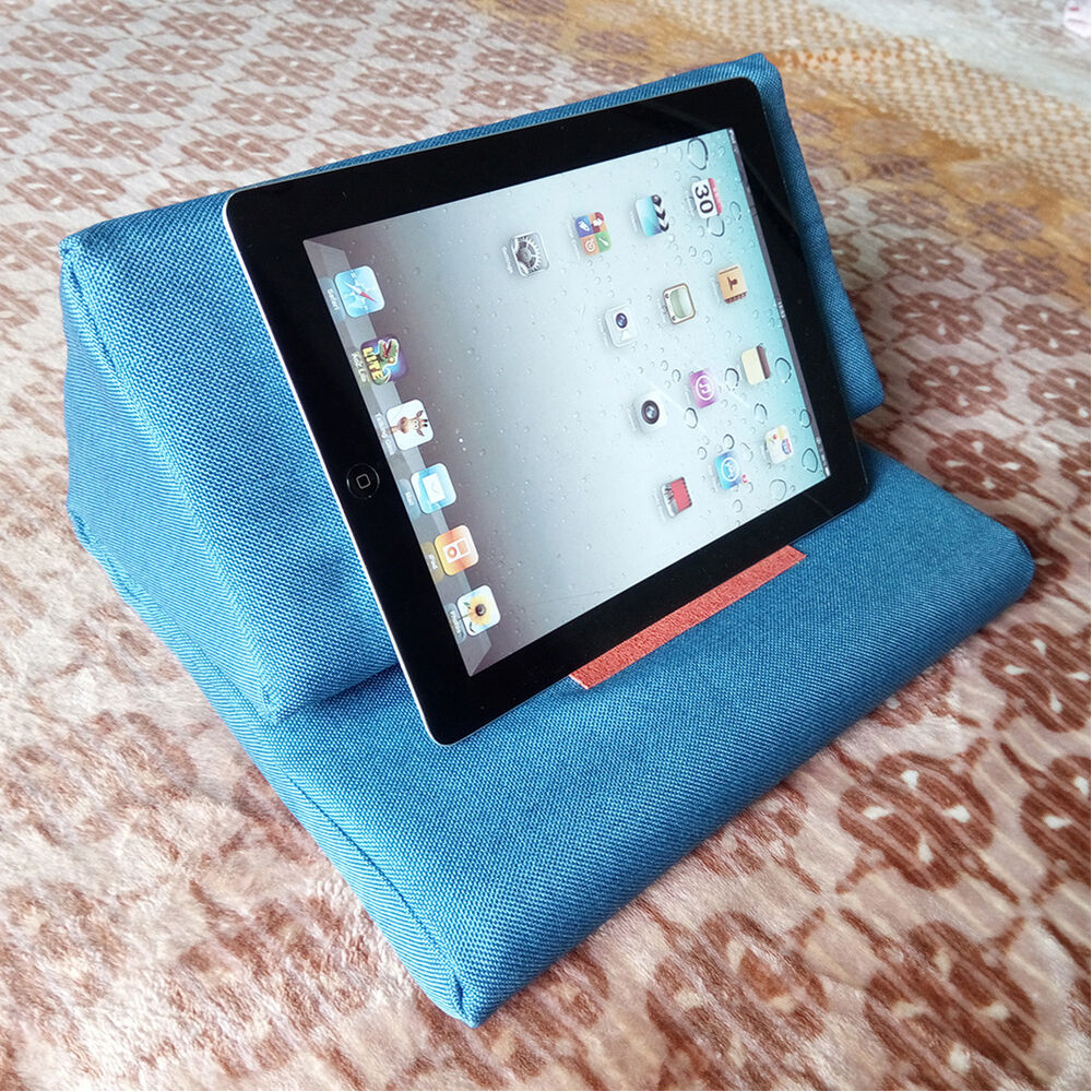 Plush Tablet Holder Wedge Pillow Angled Cushion Lap Stand