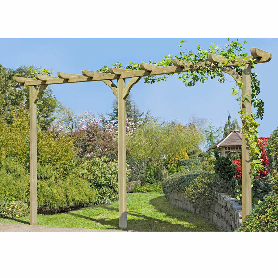 holz pergola torbogen rankhilfe rosenbogen blumenbogen cm mit pfosten 9x9 4251131203297. Black Bedroom Furniture Sets. Home Design Ideas