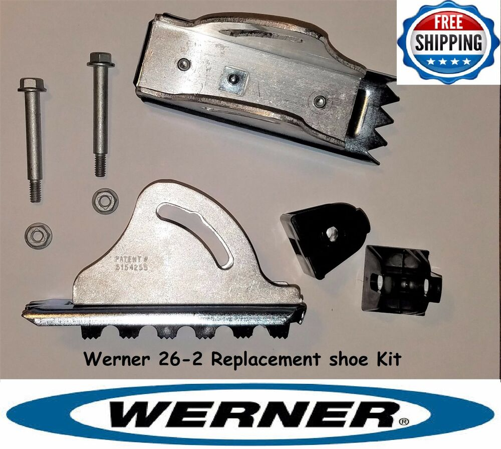 Ladder parts ebay werner 26 2 replacement shoe feet kit aluminum extension ladder parts sciox Images
