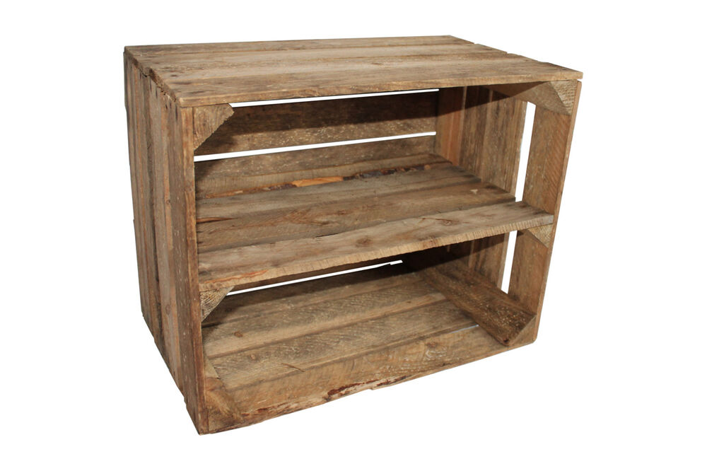 Apple crate large vintage wooden used old shelf long ebay for Used apple crates