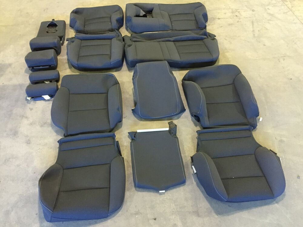 FACTORY OEM EBONY BLACK CLOTH SEAT COVER COVERS 2016