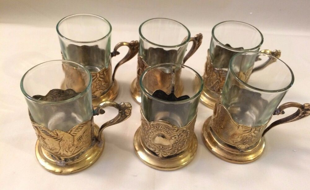 Brass Tea Glass Holder