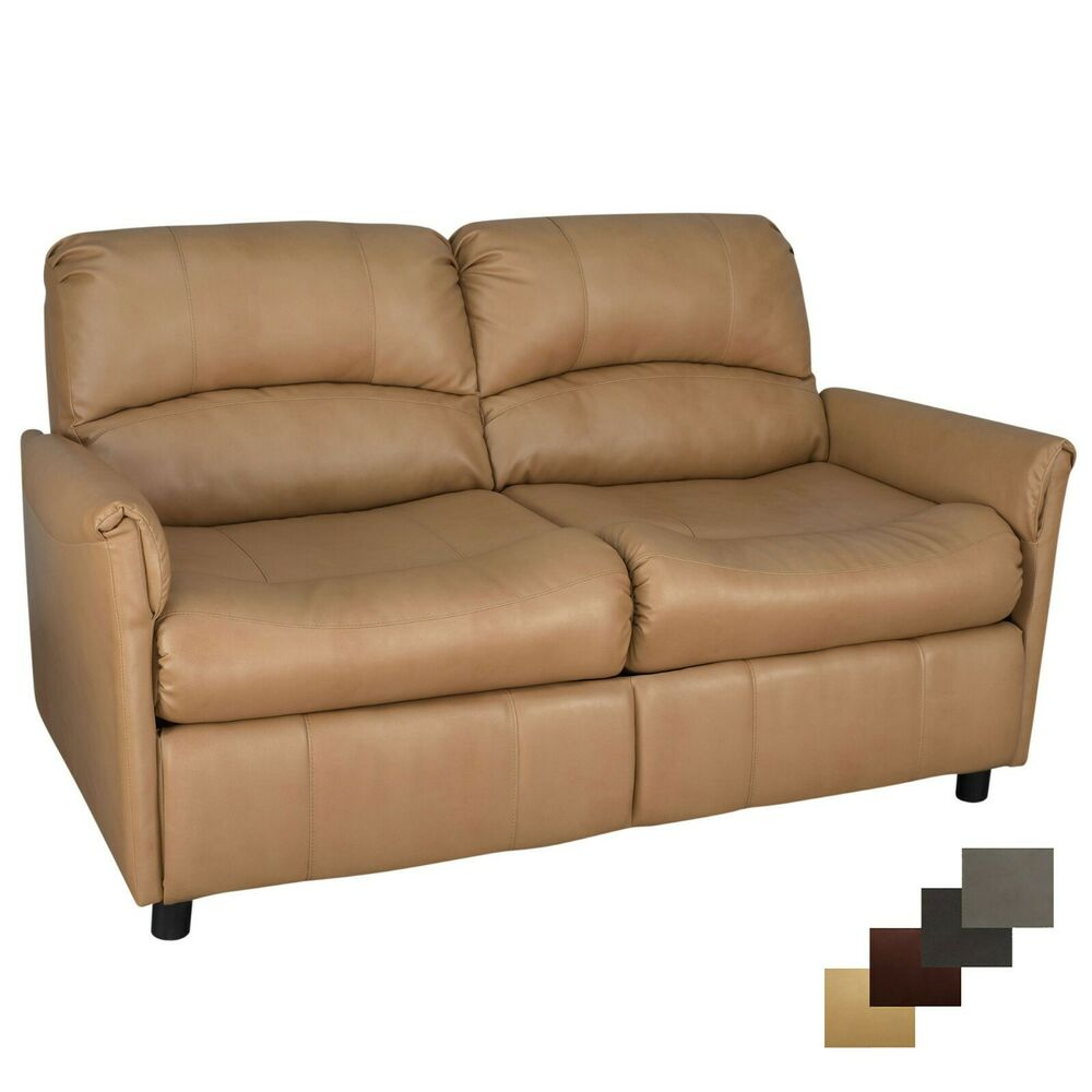 Recpro charles 60 rv sofa sleeper w hide a bed loveseat toffee ebay Loveseat sofa bed
