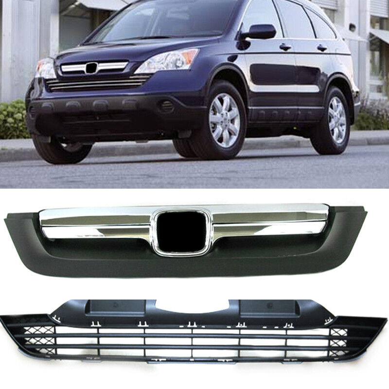 ABS Chrome Front Bumper vents Grille For Honda CRV 2007
