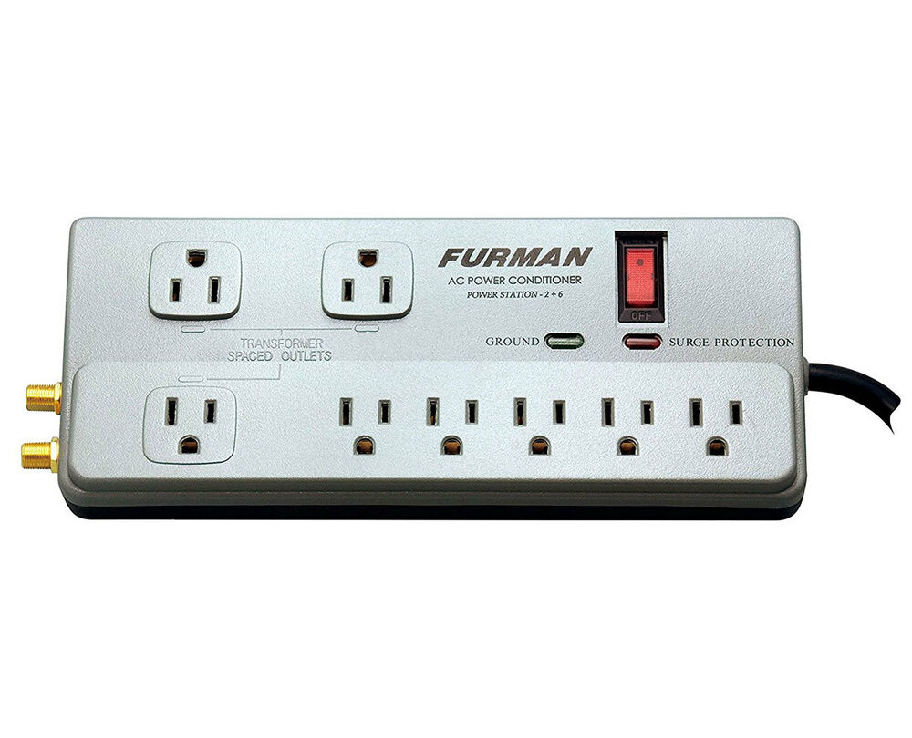 furman pst 2 6 8 outlet 15 amp power conditioner surge protector noise filter ebay. Black Bedroom Furniture Sets. Home Design Ideas