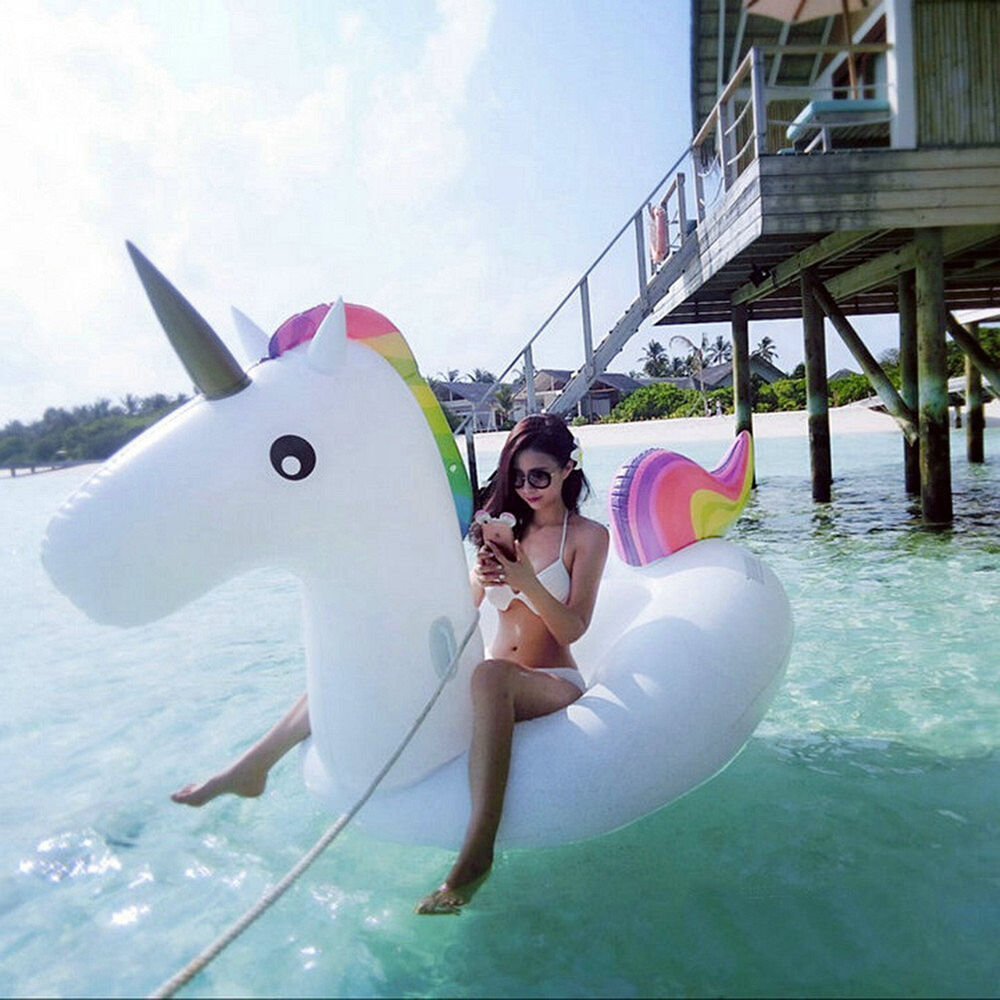 Giant inflatable unicorn float outdoor swimming pool water for Giant swimming pool