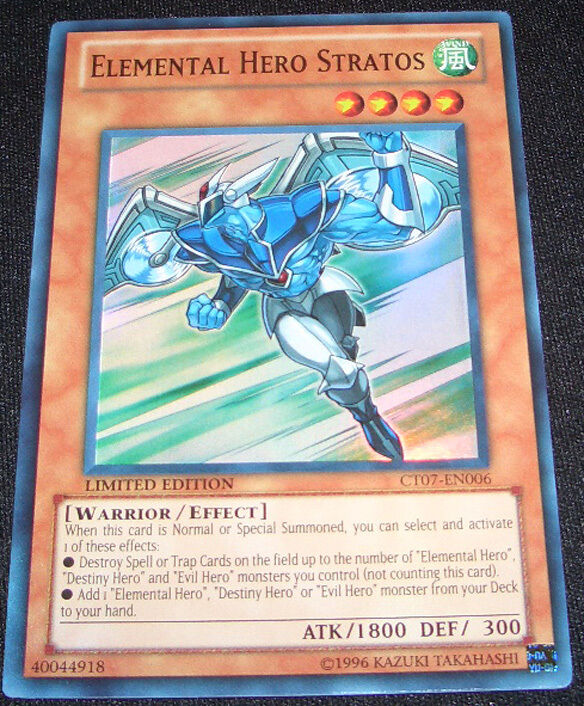 Elemental Hero Cards: Yugioh CT07-EN006 Elemental Hero Stratos Limited Edition