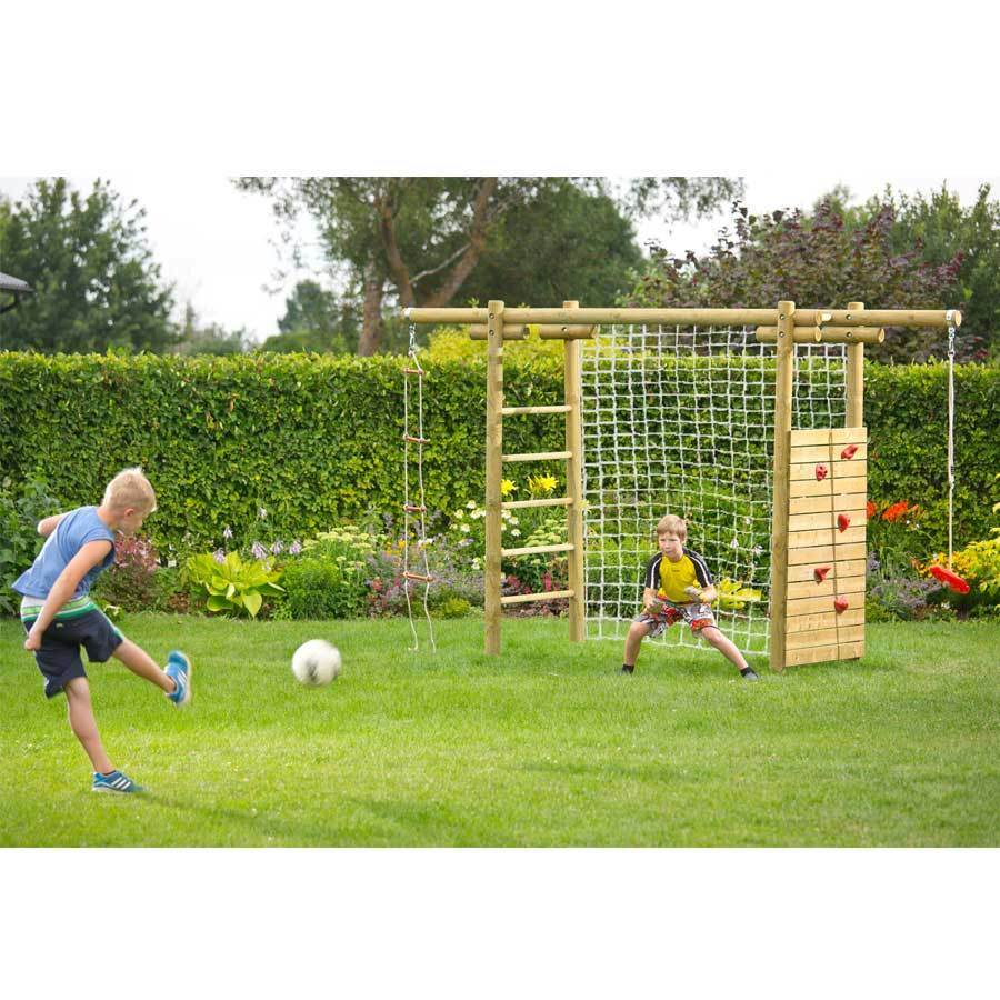 kletterger st 360x120x230 holz spielger st mit netz f r fu balltor kletterwand ebay. Black Bedroom Furniture Sets. Home Design Ideas