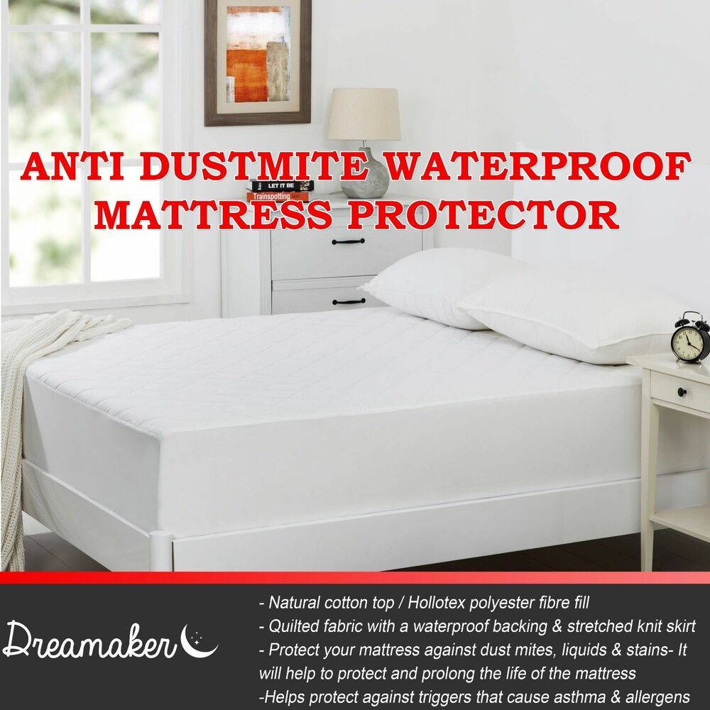 100 Waterproof Quilted Anti Dust Mite Bacterial Fitted