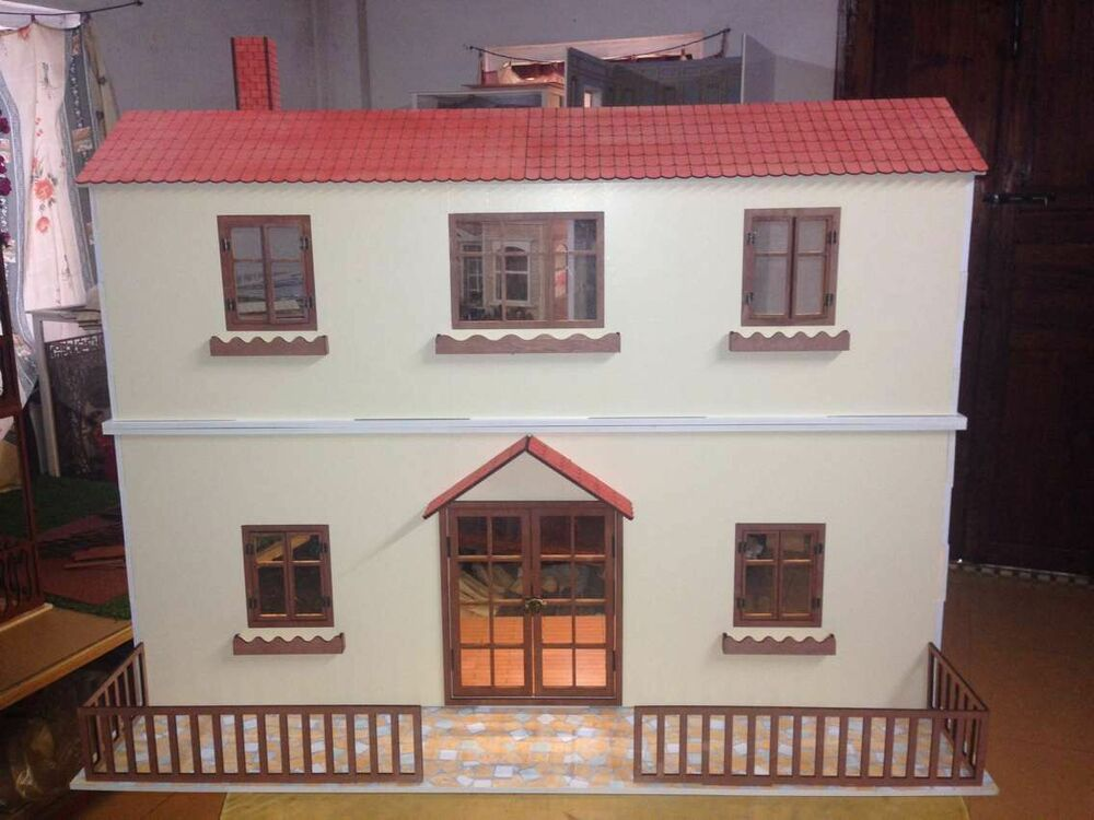 Barbie Bedroom In A Box: Doll House Room Box Two Storey Villa~ 1:6 Pullip Blythe