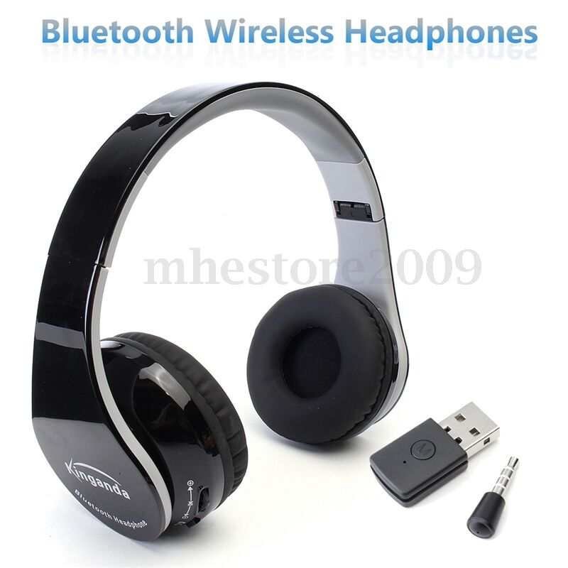 wireless bluetooth foldable headset stereo headphone earphone for sony ps4 pc ebay. Black Bedroom Furniture Sets. Home Design Ideas