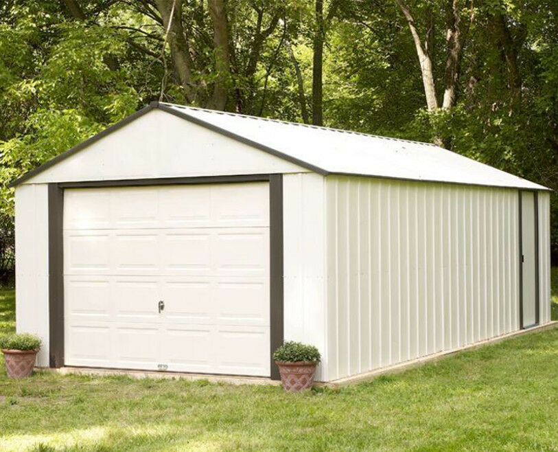 Outdoor Storage Shed Garden Pole Barn Steel Utility