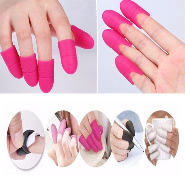 10PCS Nail Art Silicone UV Gel Polish Remover Wraps Soak Off Cap Clip Tools