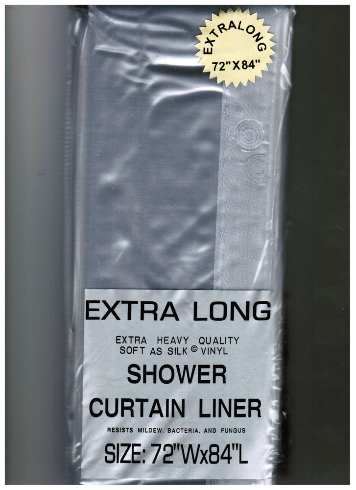 Extra Long 72 X 84 Clear Shower Curtain Liner Decor Vinyl Carnation Home Ebay