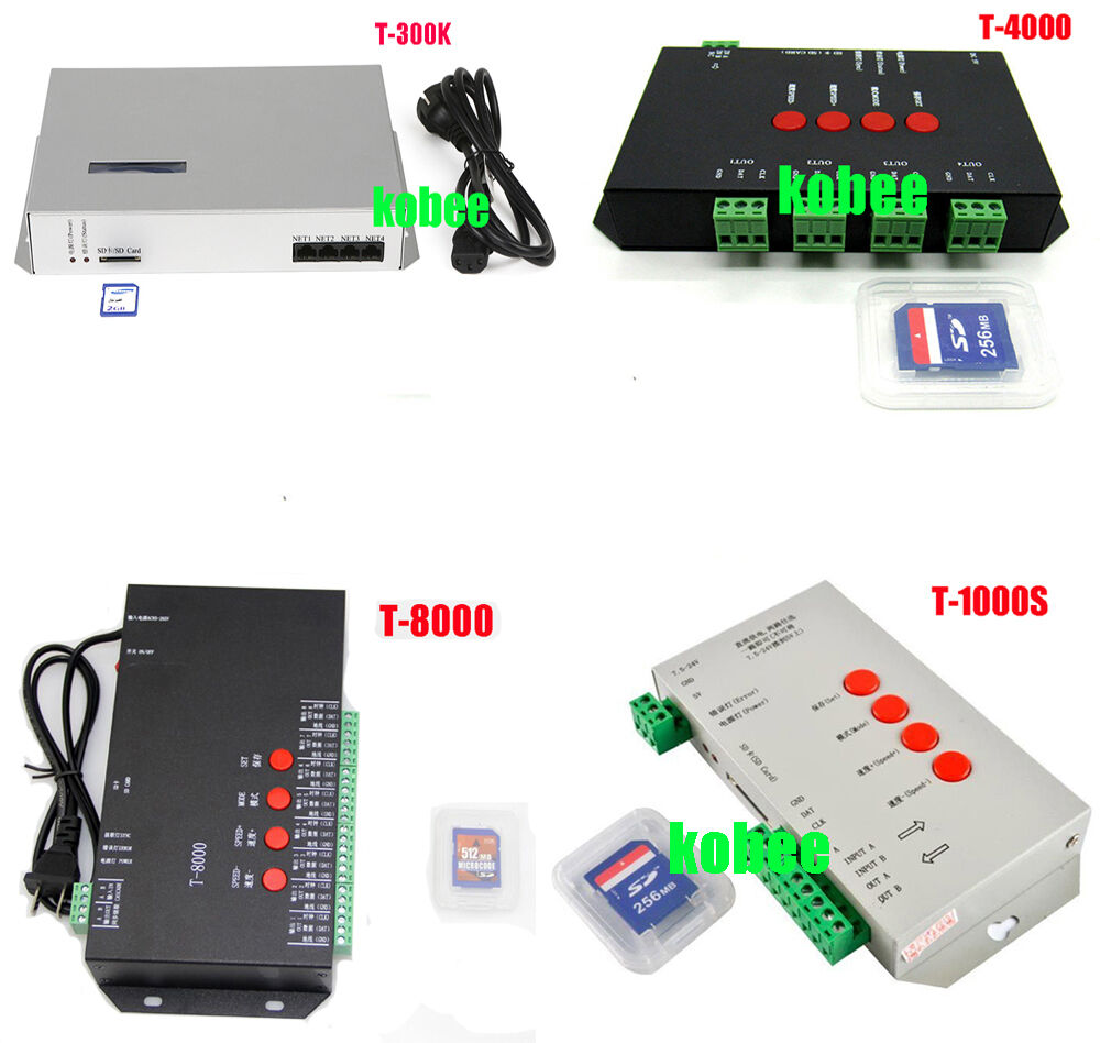 Controller T1000s T4000s T8000a T300k Pixel Programable Ws2812b The Led Strips In My Device Use Ws2801 Uses A Ws2811 Ebay