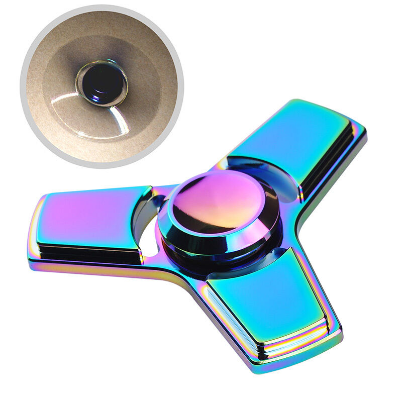 original metal triangle hand spinner fidget ceramic ball desk focus edc toy usa ebay. Black Bedroom Furniture Sets. Home Design Ideas