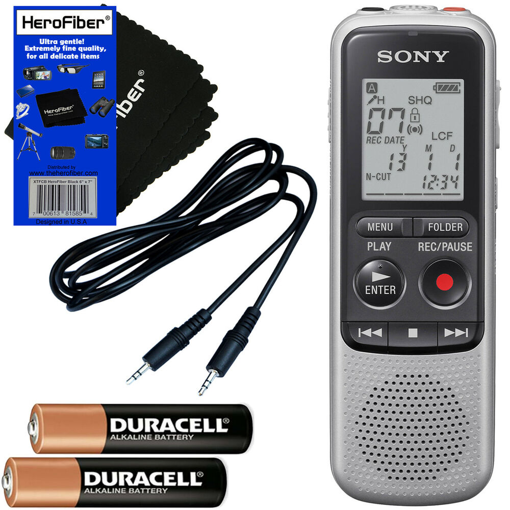 sony icd bx140 mp3 4gb digital voice ic recorder aux cable 2 aaa rh ebay com sony digital voice recorder manual icd px312 sony icd-ux533blk digital voice recorder manual