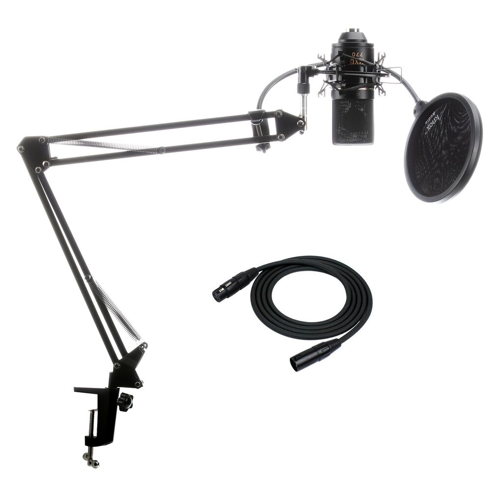 Mxl 770 Condenser Microphone With Knox Suspension Boom Arm