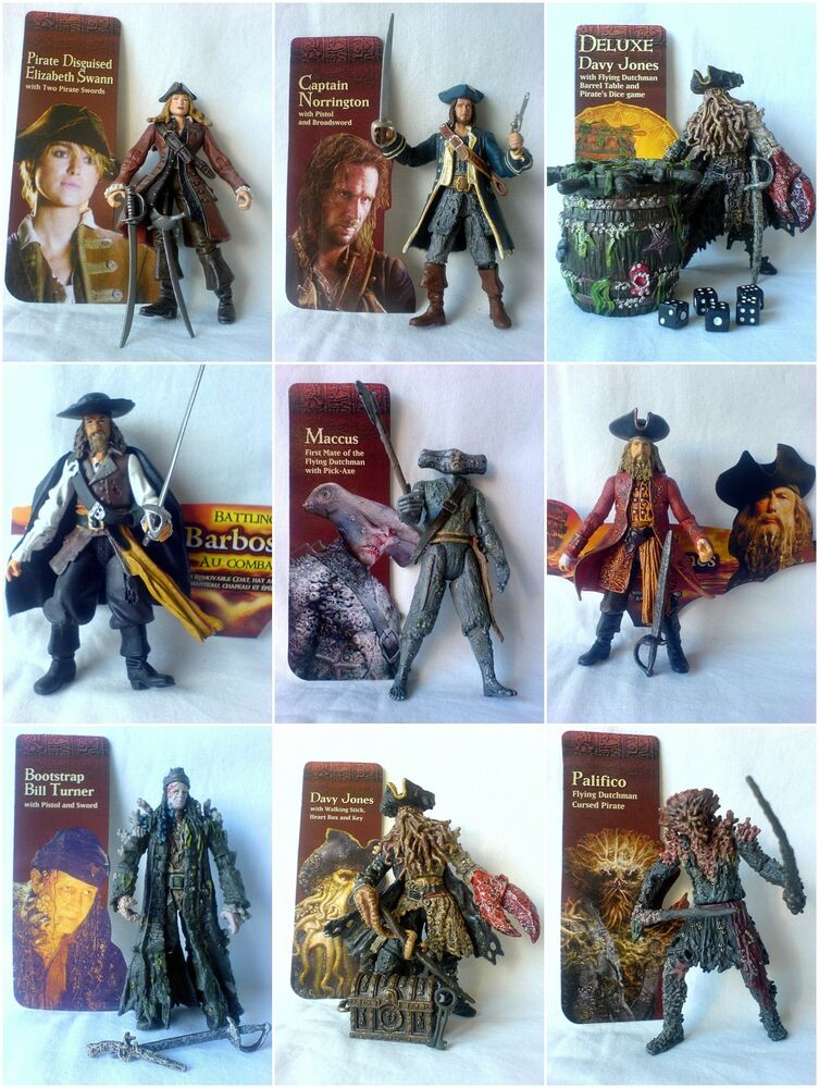 Pirates Of The Caribbean Toys : Zizzle pirates of the caribbean action figures inch