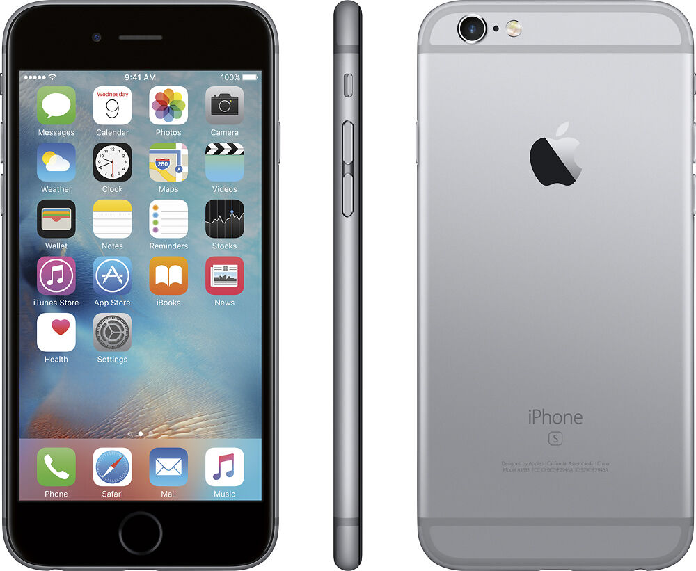 apple iphone 6s 64gb space gray at t t mobile factory. Black Bedroom Furniture Sets. Home Design Ideas