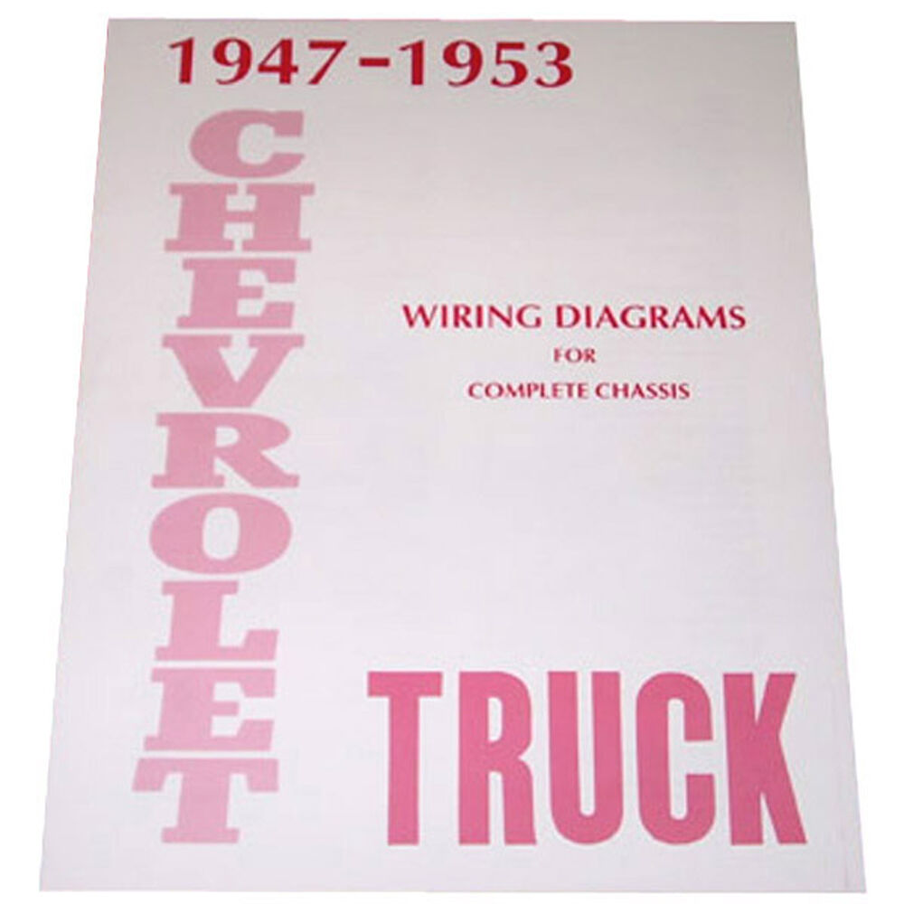 1947 1948 1949 1950 1951 1952 1953 Wiring Diagram Booklet Chevy Pickup Truck Ebay