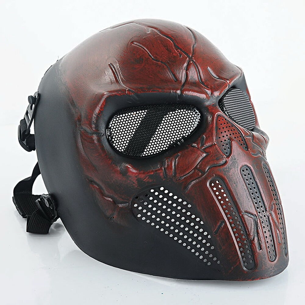Mask Tactical Airsoft Face Paintball Skull Mesh Safety ... Paintball Gear And Protection