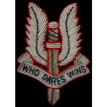 img-SAS BLAZER BADGE, SPECIAL AIR SERVICES,WHO DARES WIN ARMY, MILITARY, ARMED FORCE